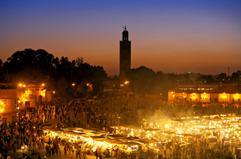 Djema El Fna at night